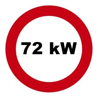 Drosselsatz 72 kw