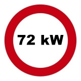 Drosselsatz 70/72 kW / 98 PS für Ducati 1098, H7